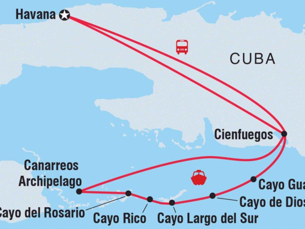 122Y60416 Kuba Sailing Adventure Karte