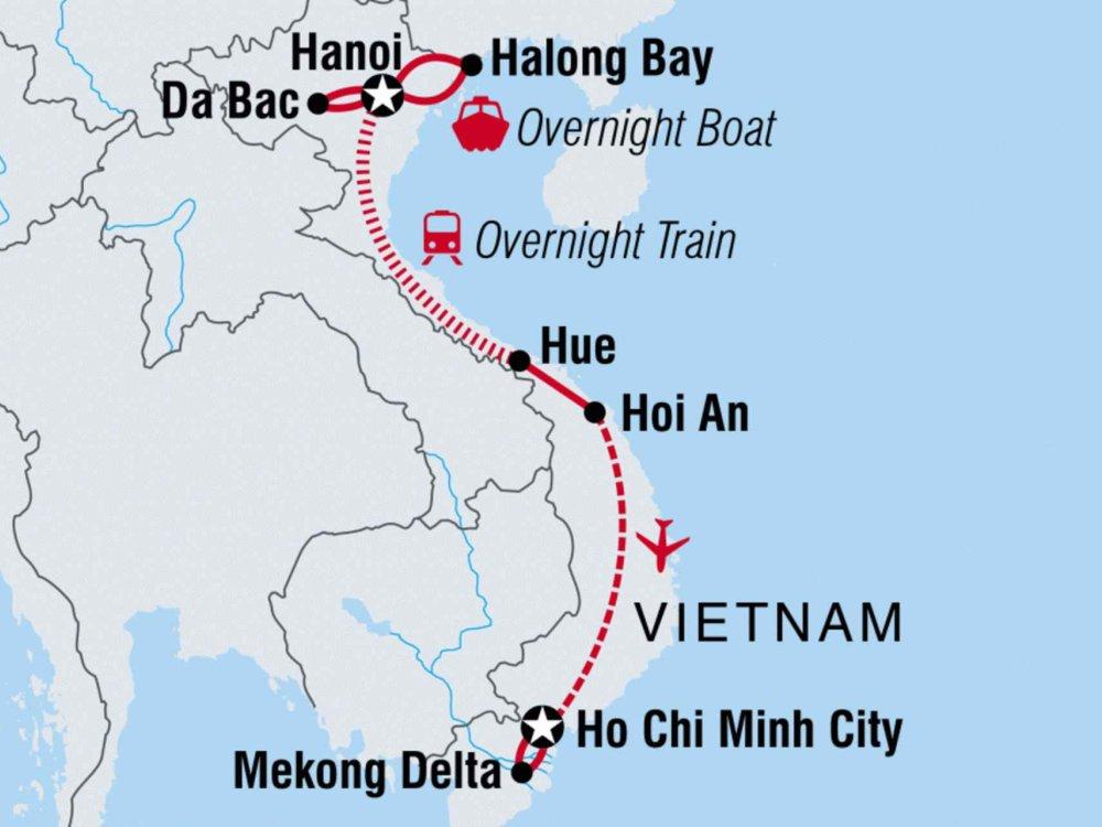 Begegnungen in Vietnam Karte