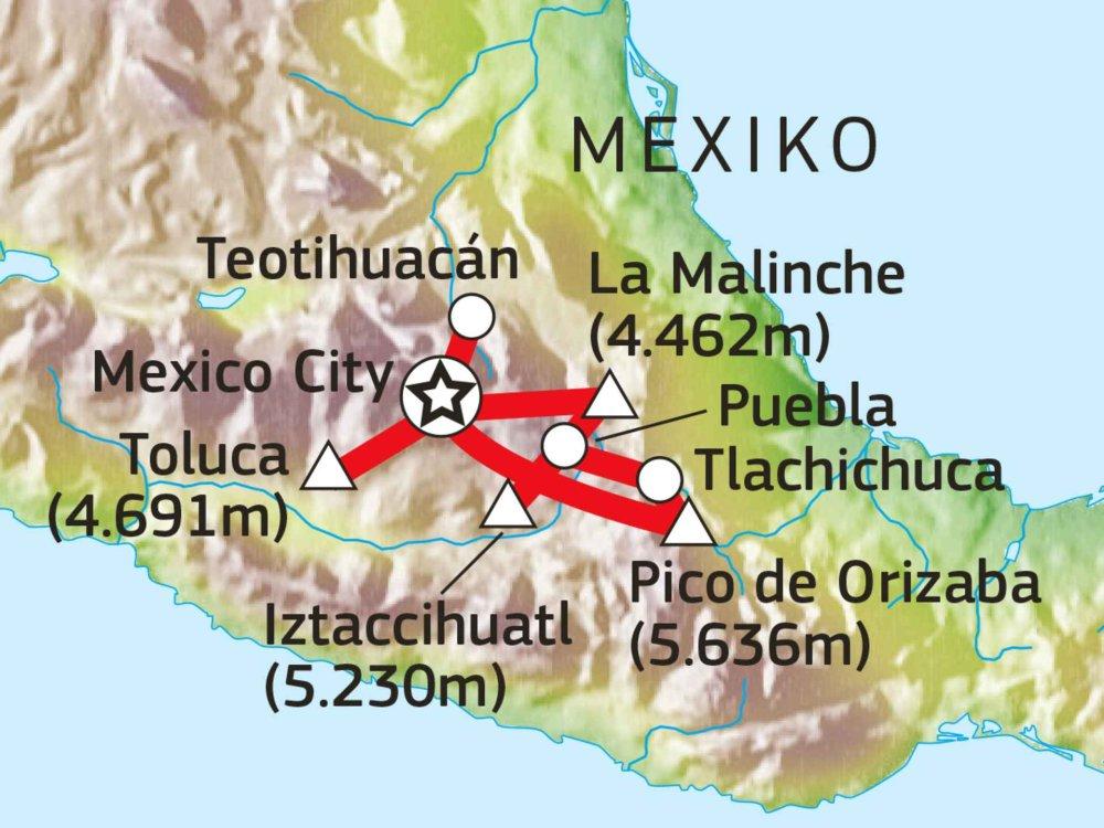 191A30001 Vulkanabenteuer Mexiko Karte