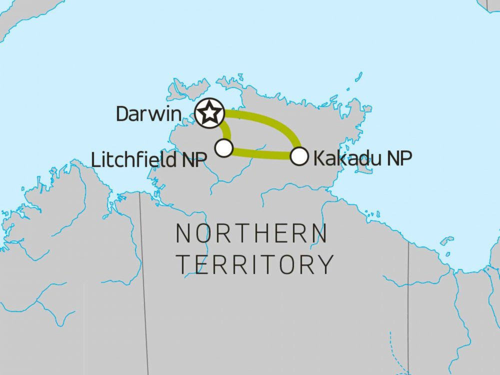 102A10059 Kakadu, Litchfield & Mary River Erlebnis Karte