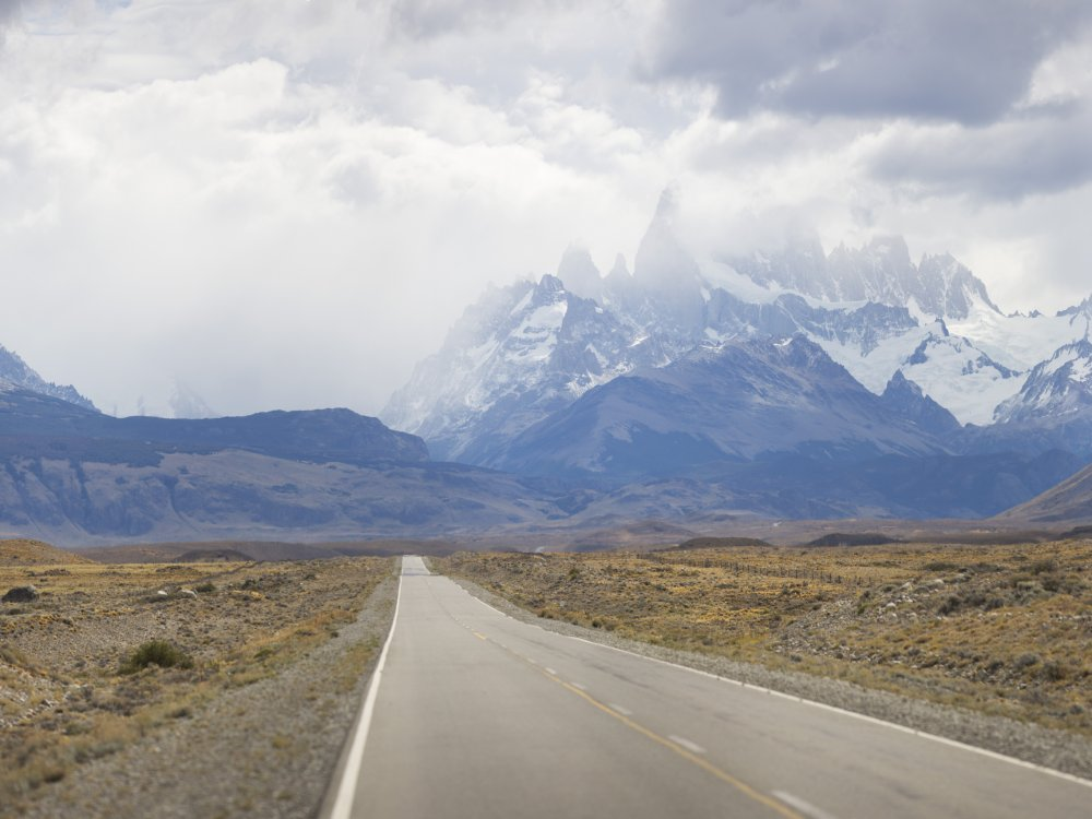 Patagonien El Chalten Fitz Roy Landschaft Strasse