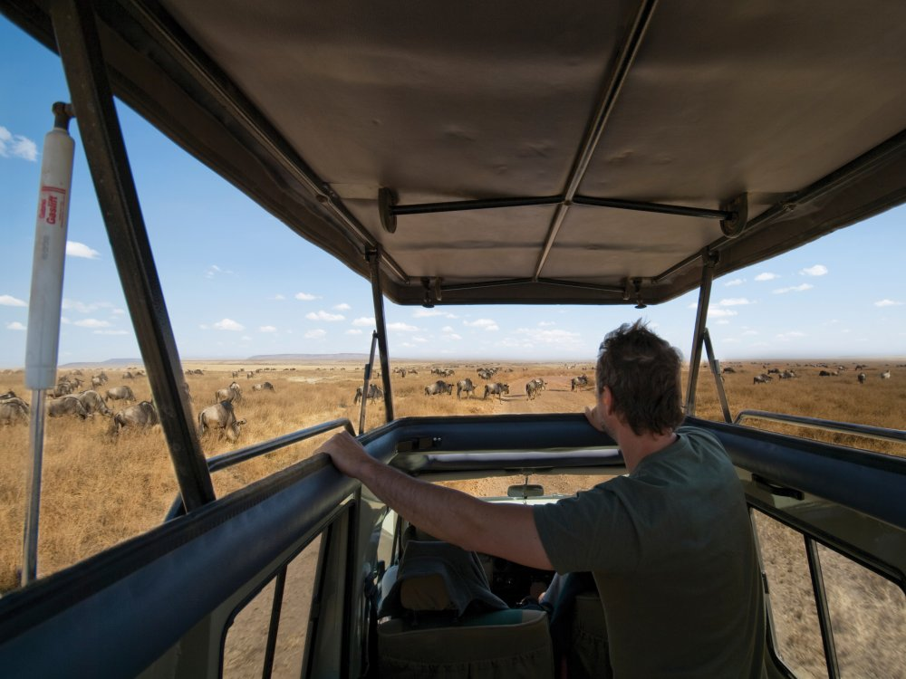Tansania Safari Fahrzeug mit Ausstelldach