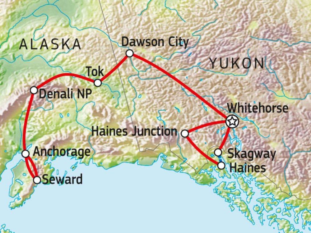 187Y31007 Yukon & Alaska Explorer Karte