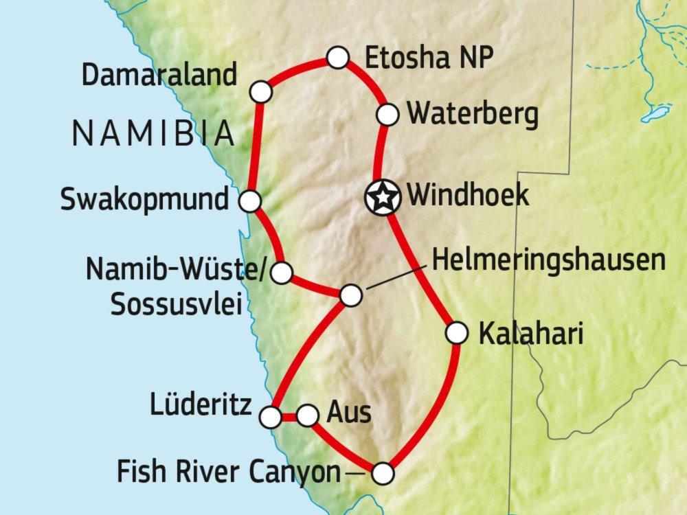 171U00003 Naturwunder Namibia Karte