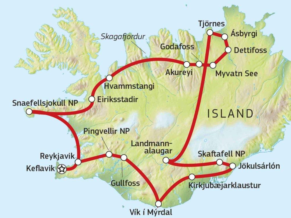 Wildes Island Karte