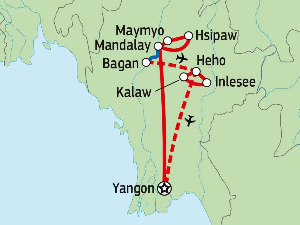 151Y10255 Myanmar aktiv Karte
