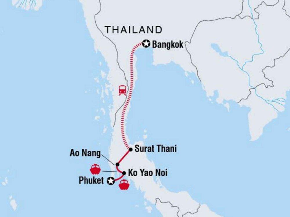 122Y60225 Inselwelt Thailands - Westküste Karte
