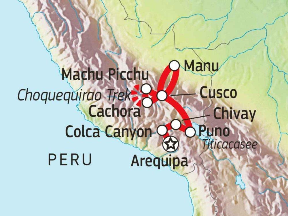 188P00015 Trekking, Kultur und Regenwald Karte