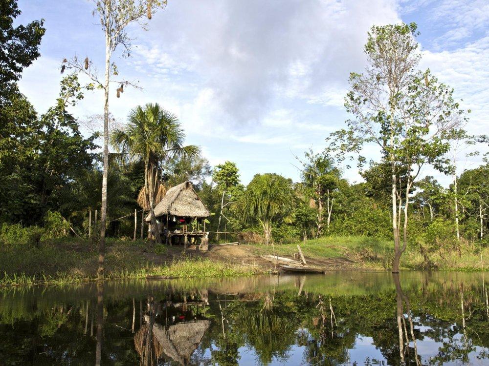 Amazonas Hütte am Fluss