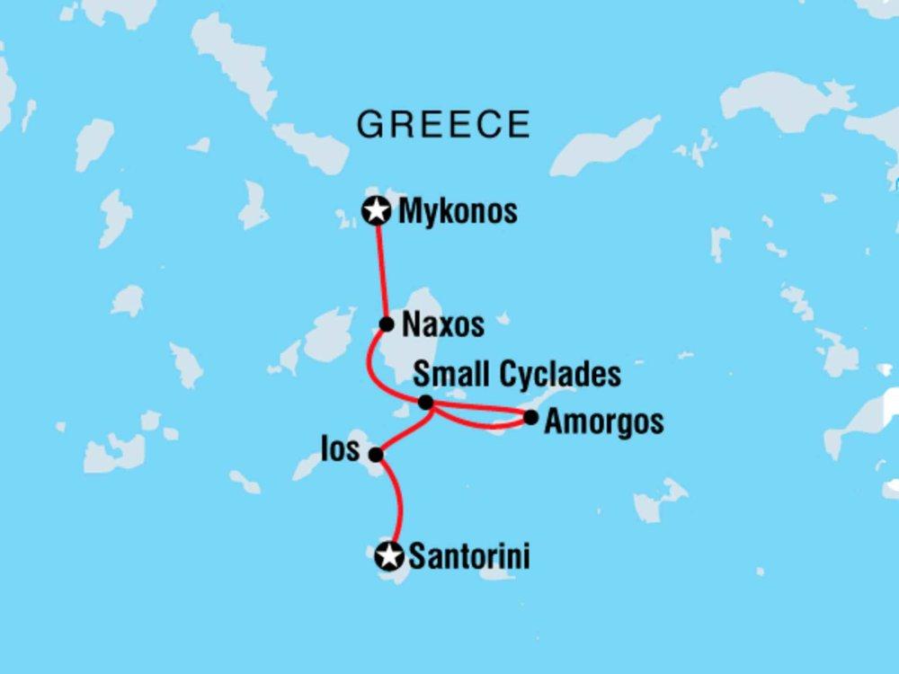 122Y40231 Segeltour durch Griechenlands Inselwelt Karte