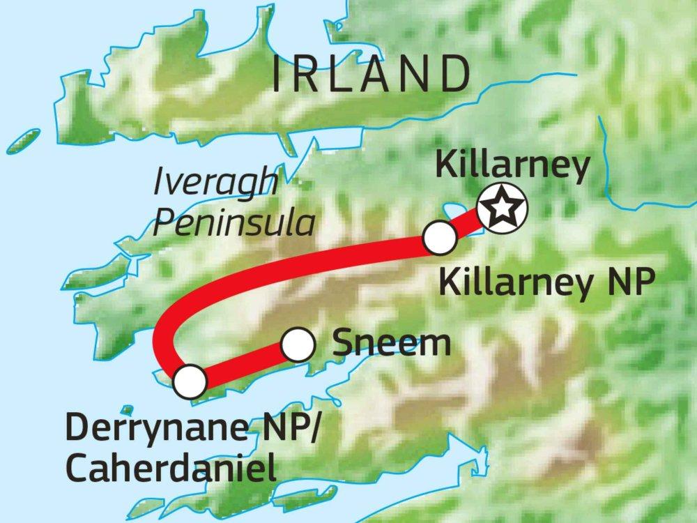 123H10014 Wandern in Kerry - Irlands zauberhafter Südwesten Karte