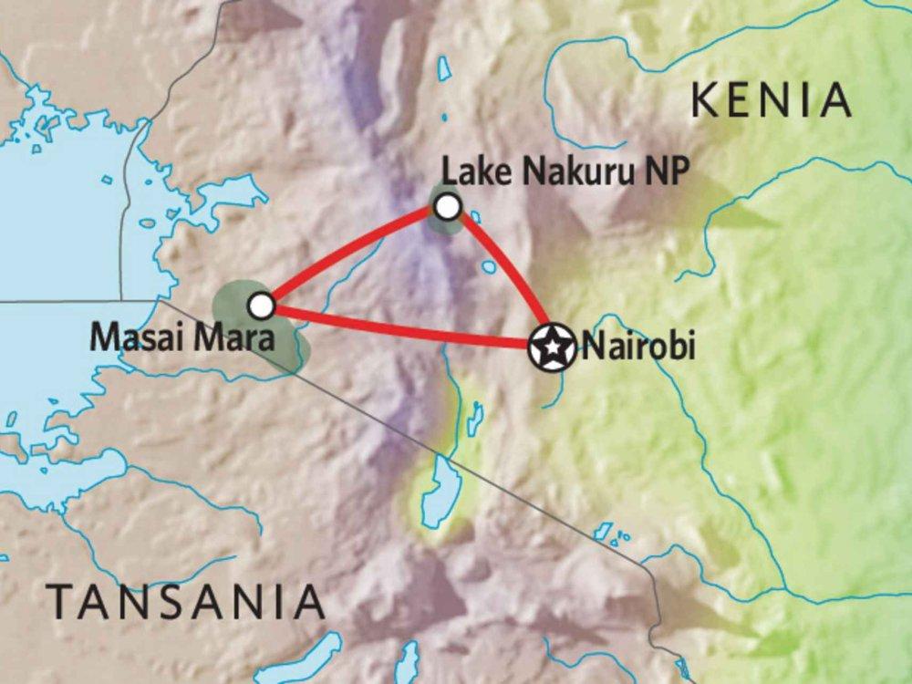 173Y10002 Kenia Camping Safari II Karte
