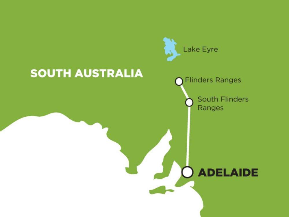 102A10041 Flinders Ranges & Outback Tour Karte