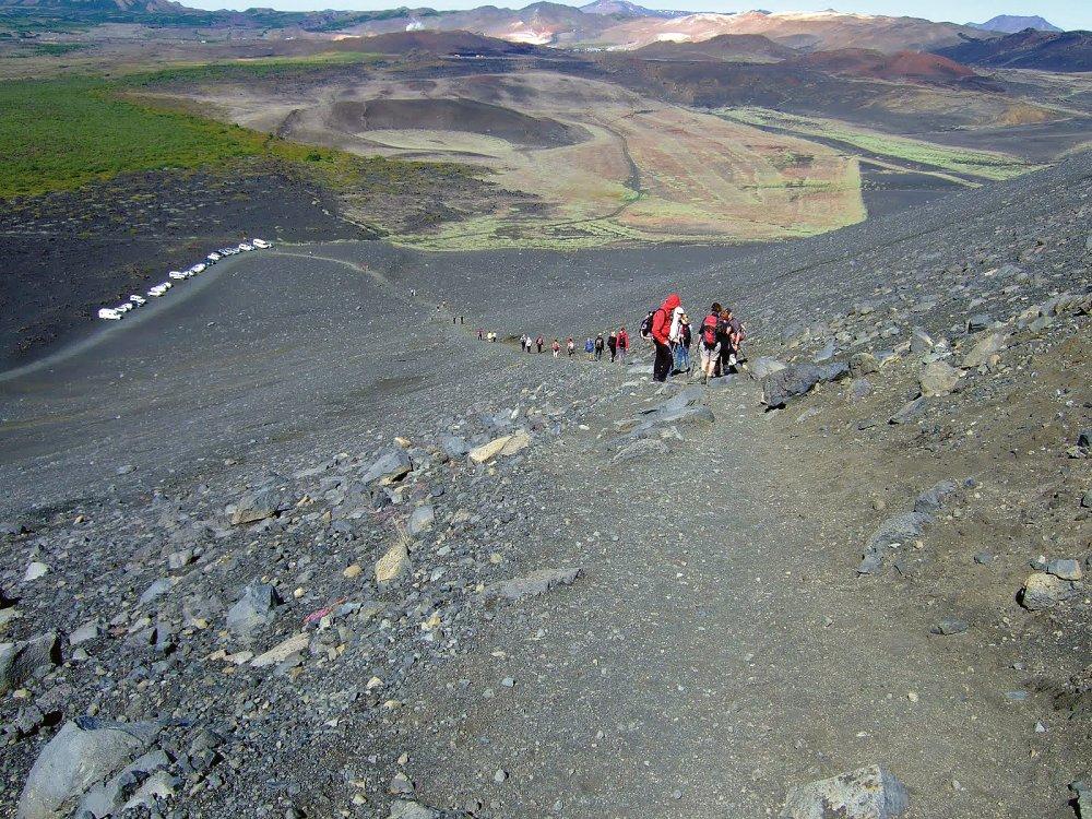 Wanderung im Hochland von Island
