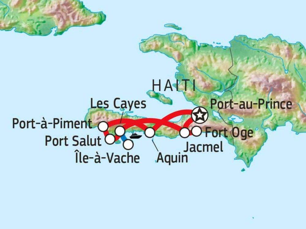 188D00003 Den Süden Haitis entdecken Karte