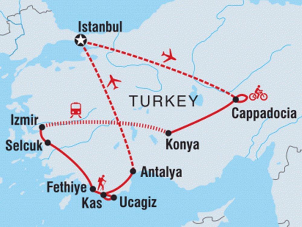 Türkei Aktiv Karte
