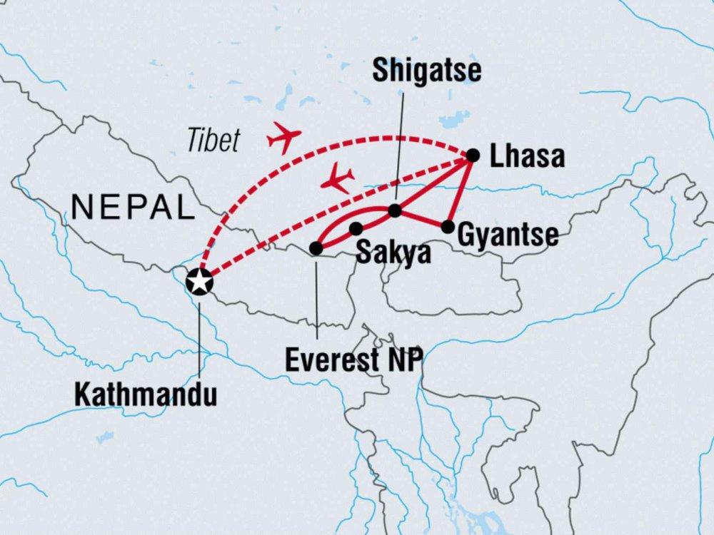 122Y40212 Abenteuer Tibet Karte