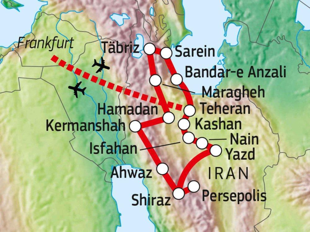 116Y22000 Iran - Land der Kontraste Karte