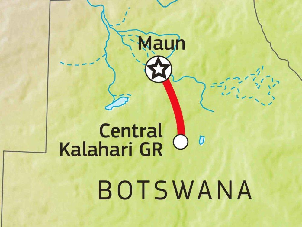 115Y01006 Kalahari Safari Karte