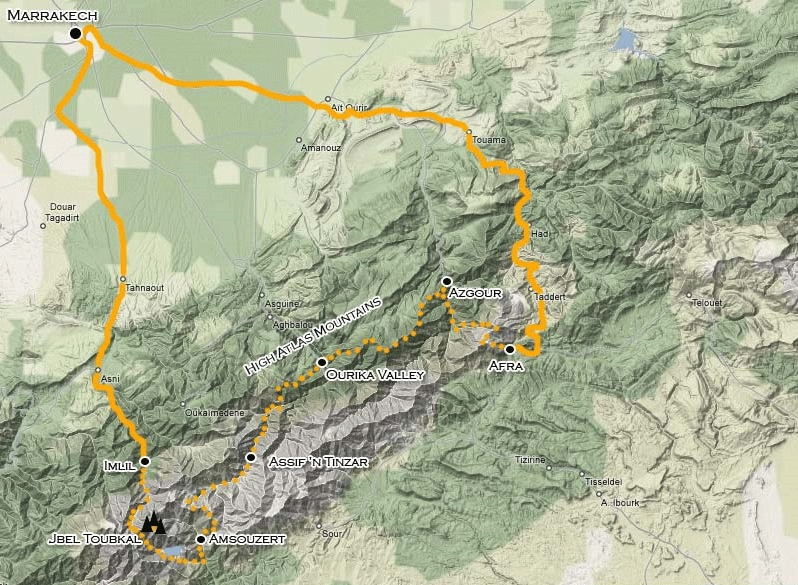 172Y51005 Mount Toubkal & Atlasgebirge Karte