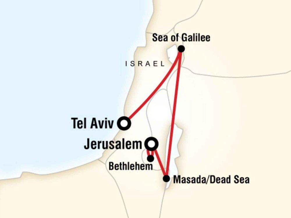 130G35028 Israel Entdeckertour Karte