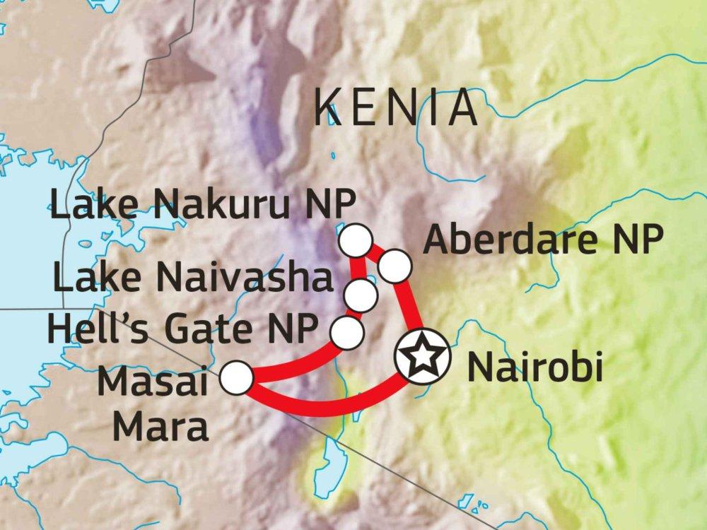 176Y10013 Kenia Abenteuer Busch Karte