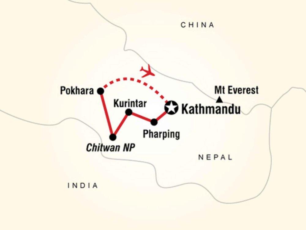 130G35001 Himalaya Highlights Karte