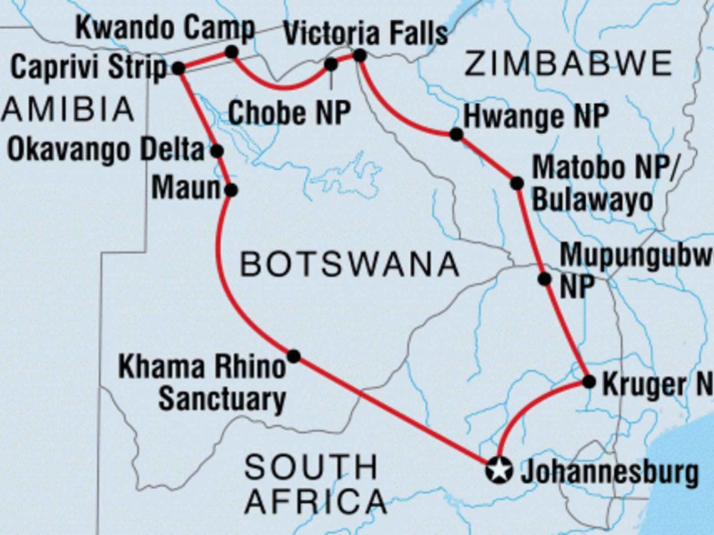 131Y21162 Entdecke die Wildnis im Südlichen Afrika Karte