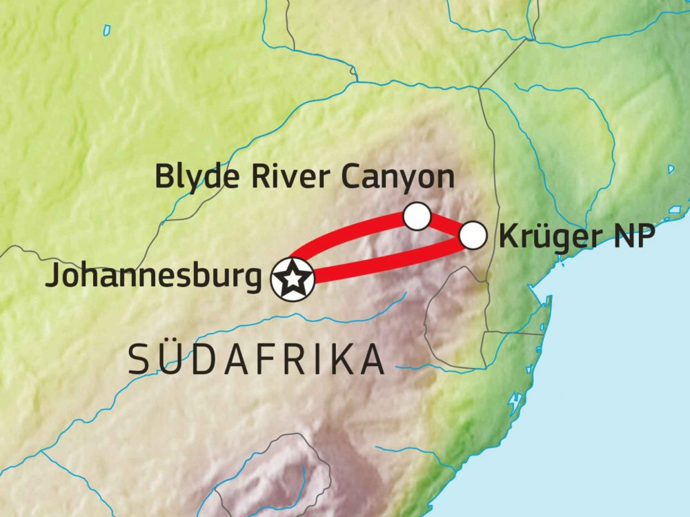 155Y20005 Krüger Nationalpark - Abenteuer Baumhaus Karte