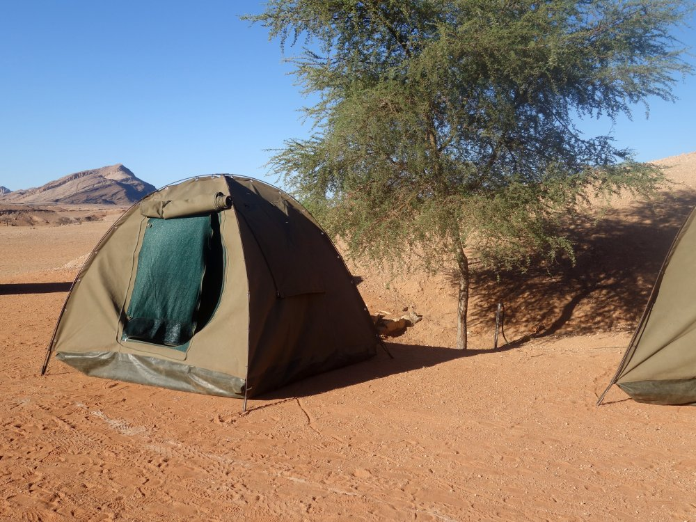 Zelte Camping in Namibia