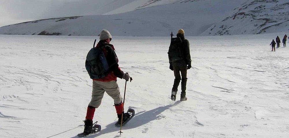 Spitzbergen Aktivitäten Schneeschuh-Wanderung