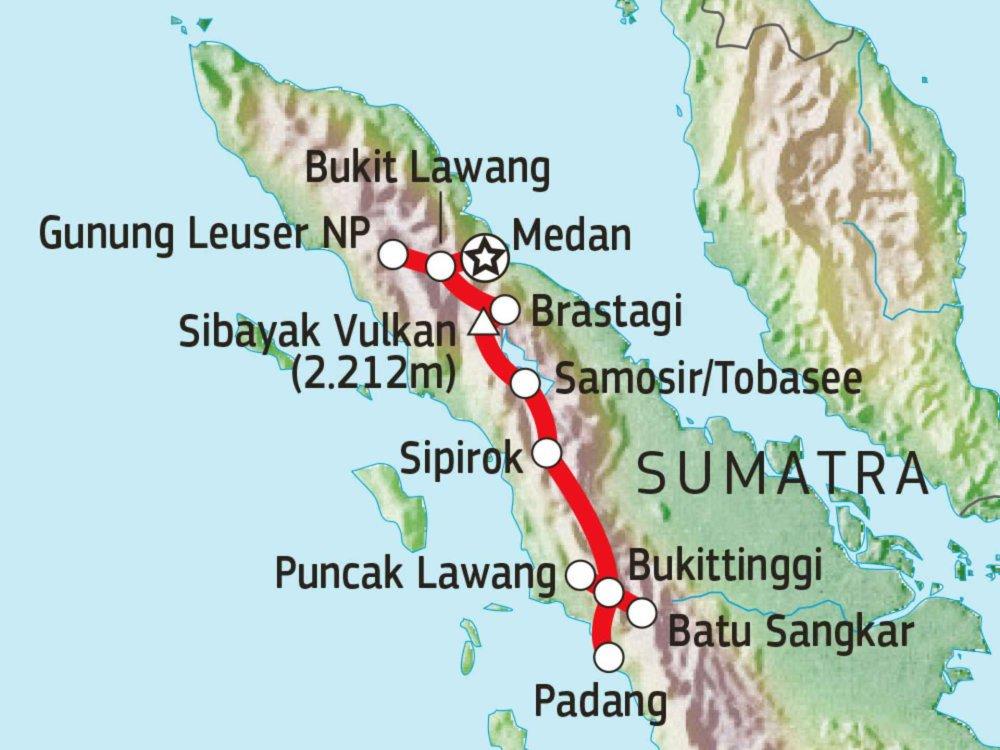 124Y21013 Wildes Sumatra von Nord nach West Karte