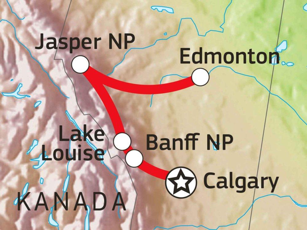 160A10014 Rocky Mountains Familienabenteuer Karte