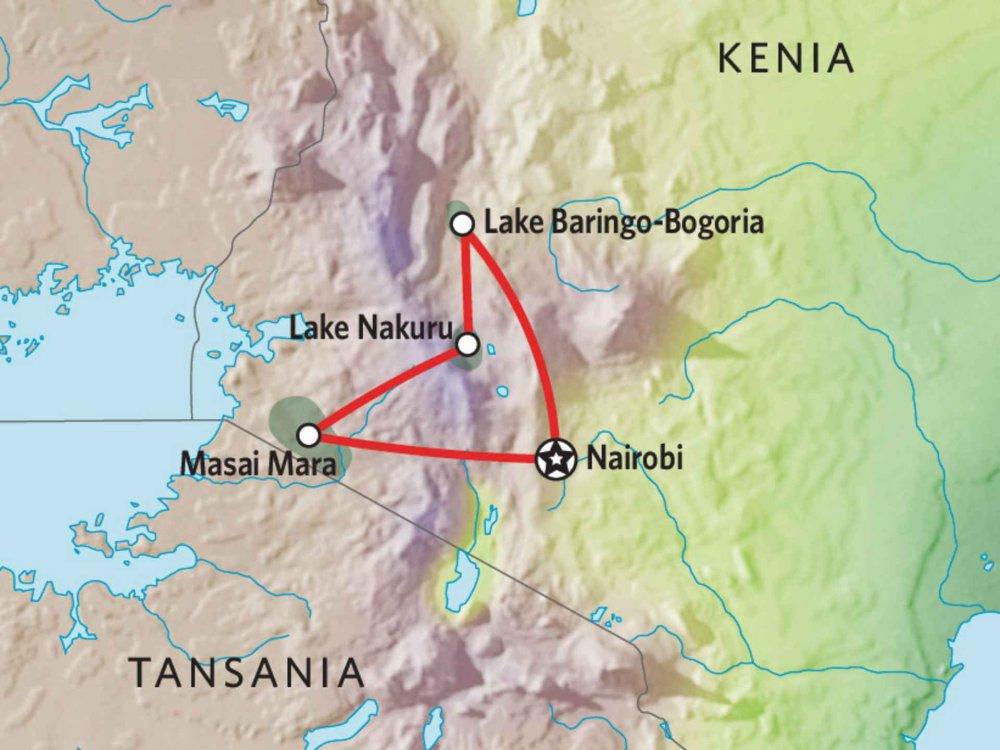 173Y10006 Kenia Camping Safari VI Karte