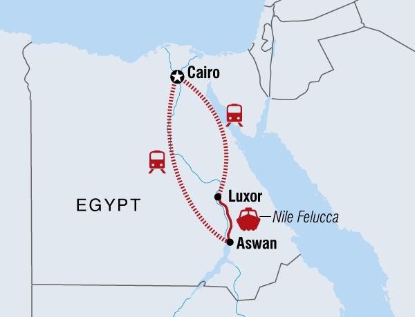 122Y60076 Ägypten Abenteuerreise entlang des Nil Karte