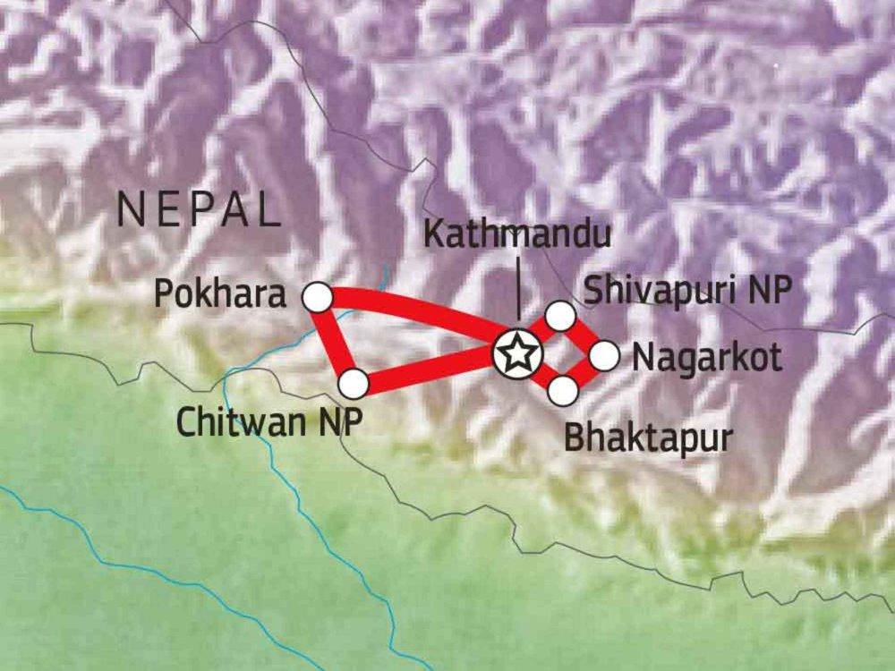 161Y30020 Nepal - Jenseits der bekannten Trekkingpfade Karte