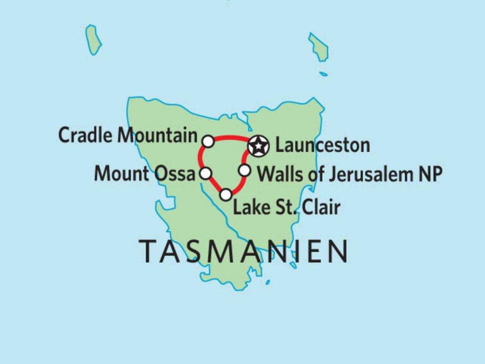 127Y10112 Tasmanien - Overland Track Karte