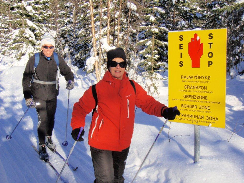 Auf Ski im Grenzgebiet