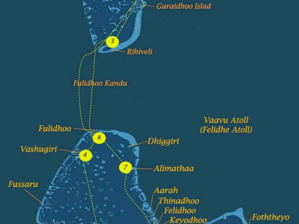 Inselhüpfen Malediven Karte