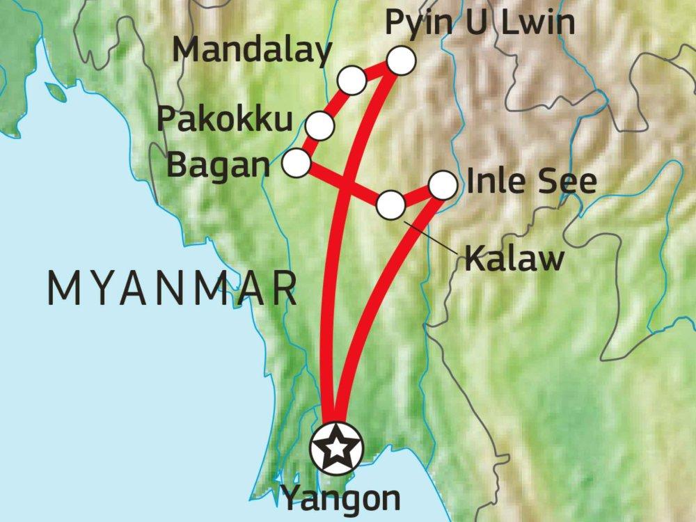 151Y10350 Preiswert durch Myanmar Karte