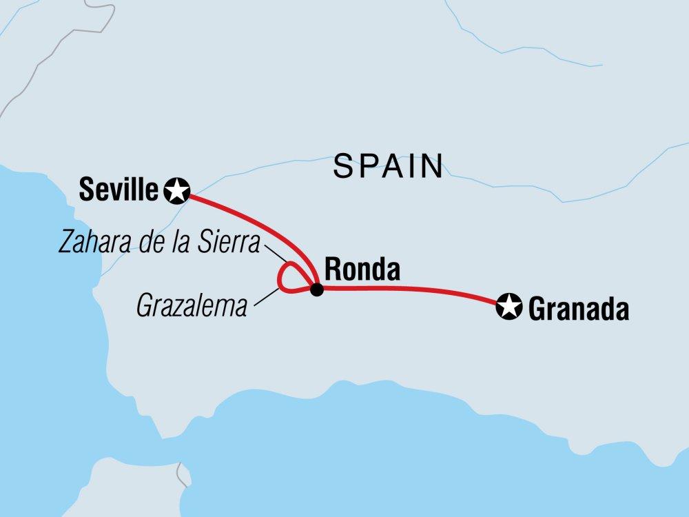 Andalusien erleben Karte