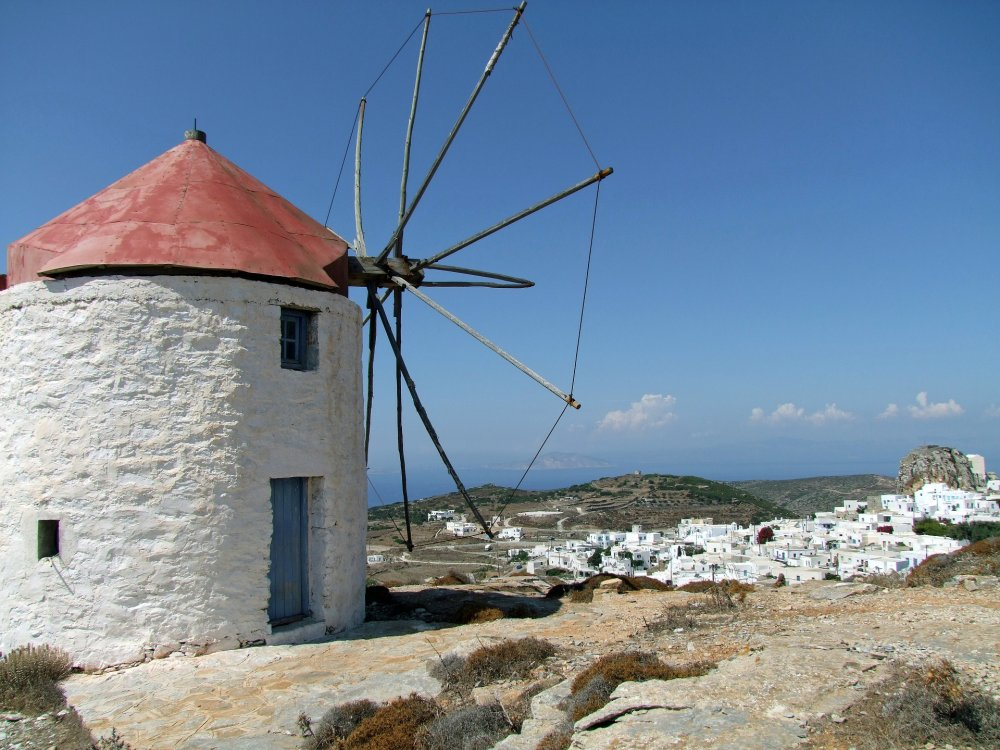 Mühle auf der Insel Amorgos