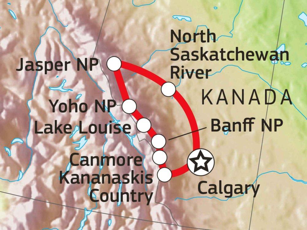 160C30010 Canadian Rockies - Into the Wild Karte