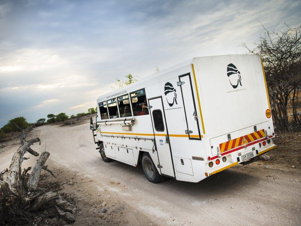 Truck in Etosha