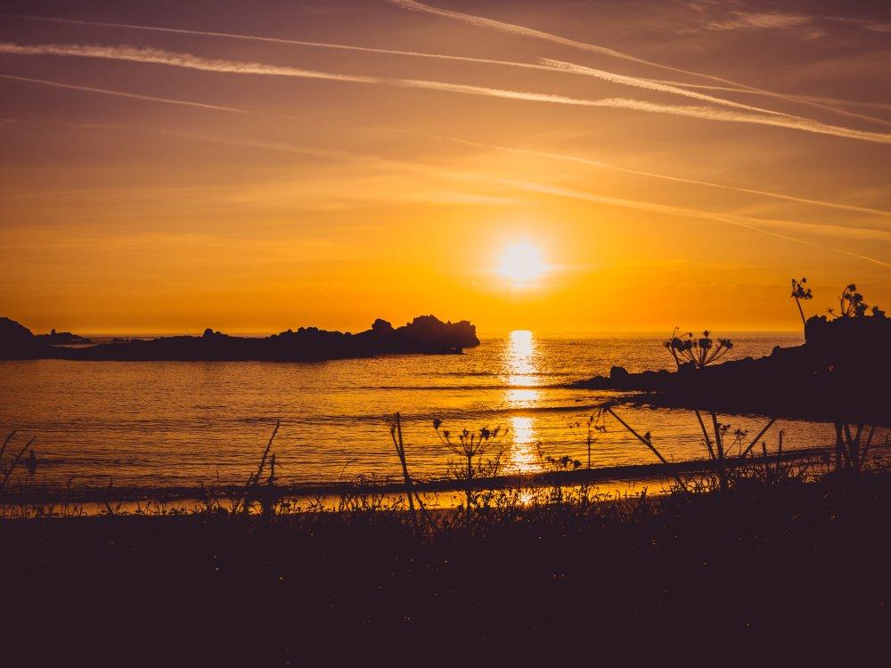 Guernsey Sonnenuntergang