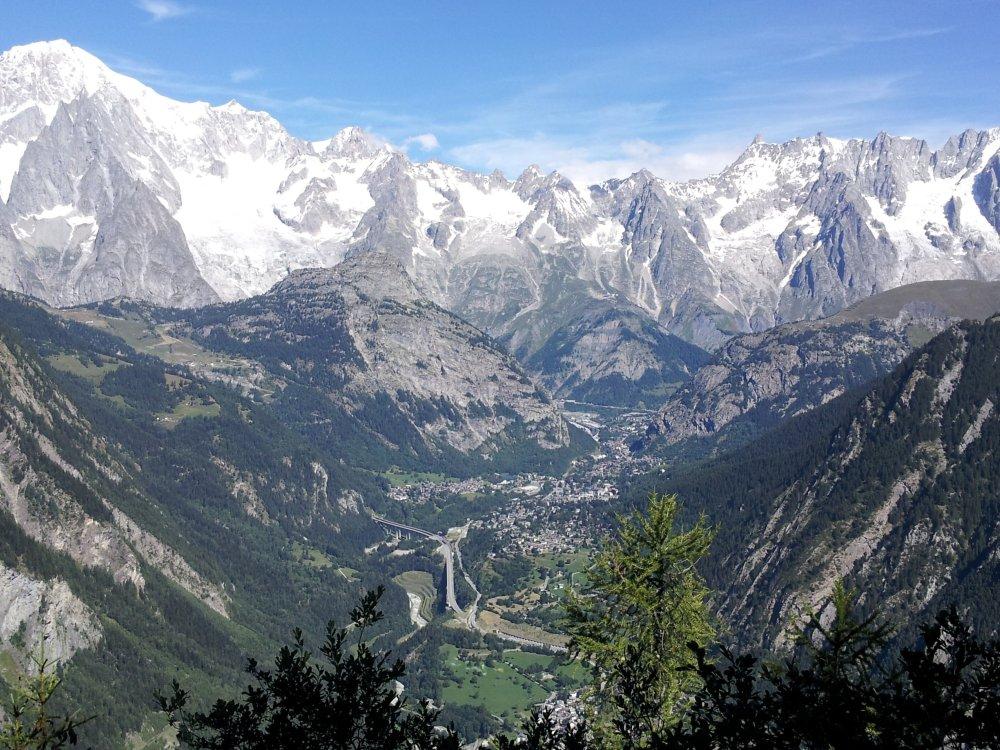 Courmayeur am Mont Blanc in den Alpen
