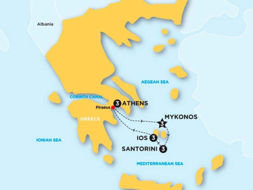 174Y20003 Greek Island Hopping Karte