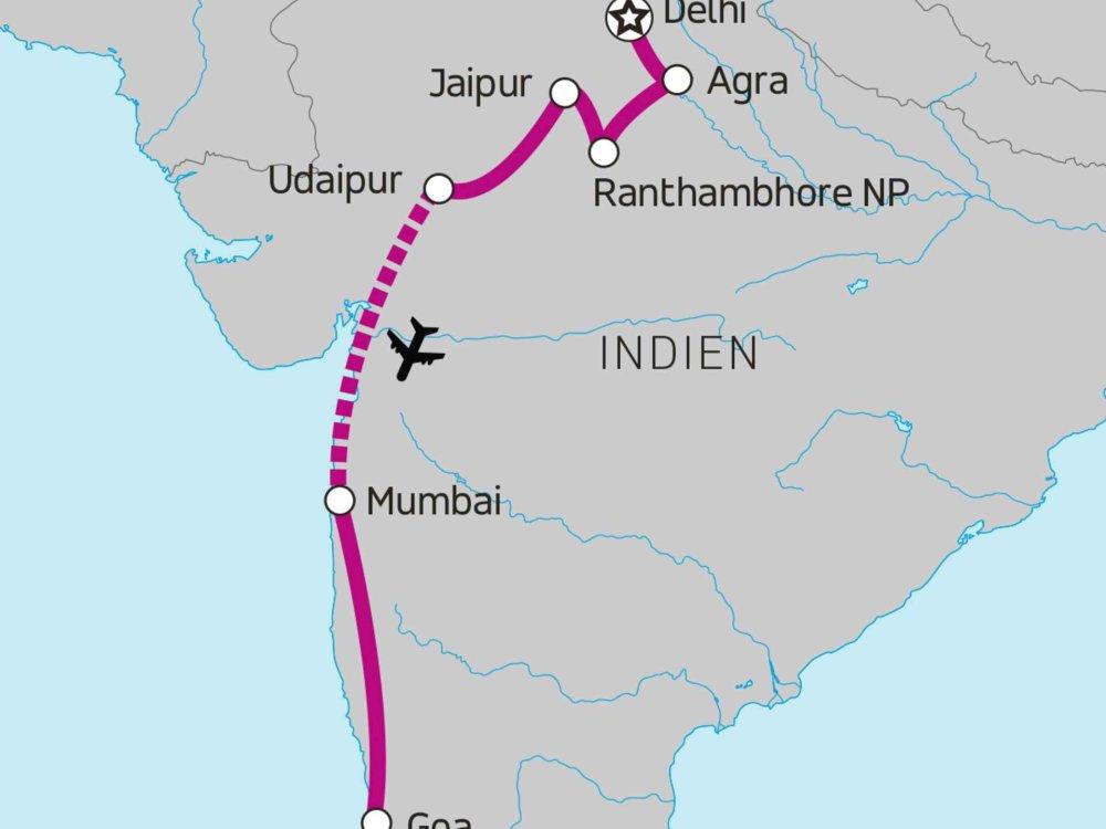 174Y20026 Indien Erlebnisreise für junge Weltentdecker Karte