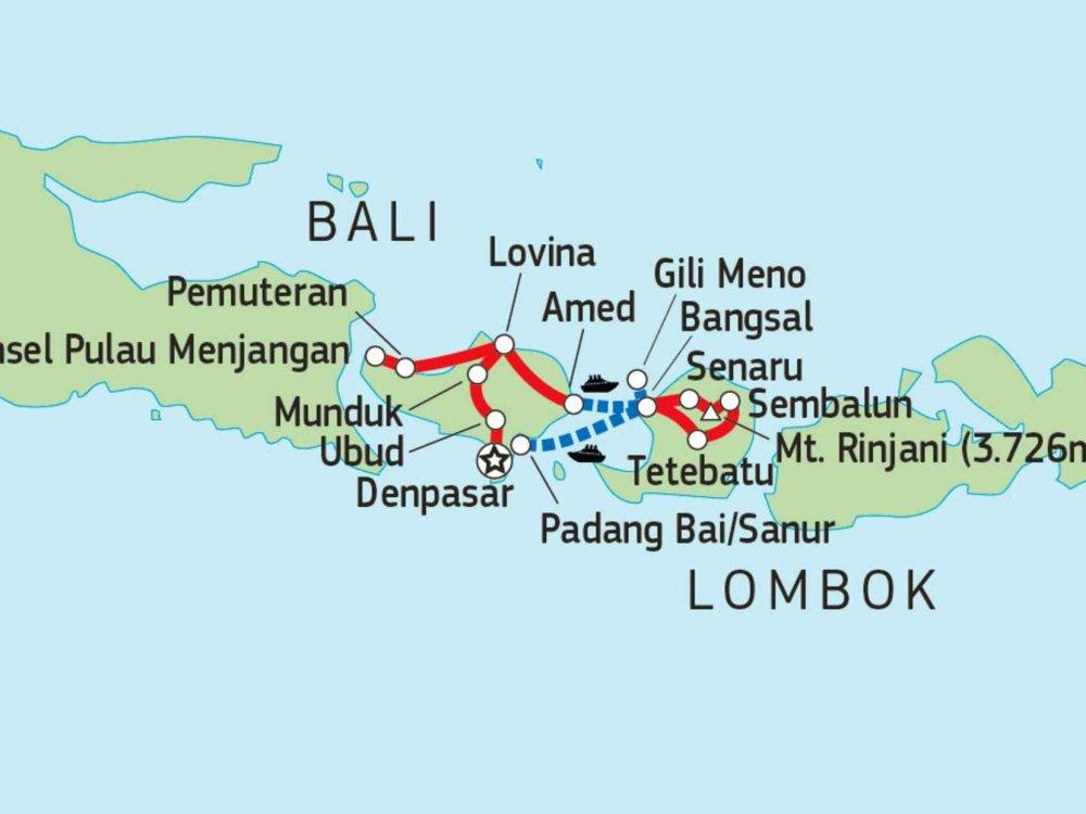 124Y21000 Trekking, Kultur und Traumstrände Karte