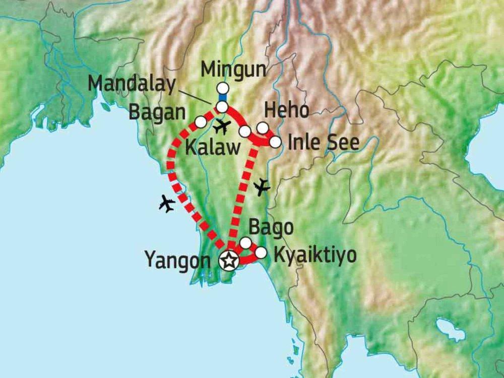 151Y10256 Myanmar - Land der Pagoden Karte
